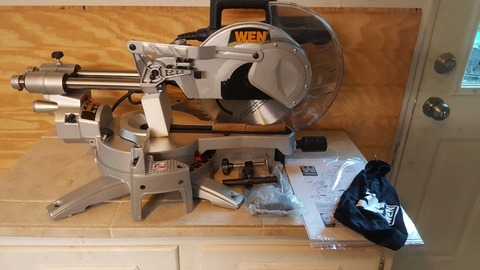 "WEN 10"" SLIDING COMPOUND MITER SAW- NEW IN BOX"